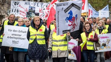 Protest der Beschäftigten gegen die Privatisierung der Nord/LB (24.11.2018)