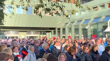 Warnstreik Postbank 02.10.2019 in Hamburg